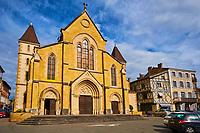 France, Loire (42), Charlieu, église Saint Philibert du XIIIe siècle, style gothique bourguignon // France, Loire (42), Charlieu, Saint Philibert church
