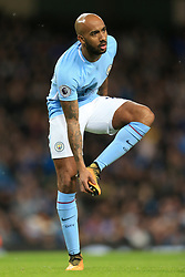 2nd January 2018 - Premier League - Manchester City v Watford - Fabian Delph of Man City removes mud from his boots - Photo: Simon Stacpoole / Offside.