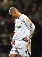 Photo: Paul Greenwood.<br />Bolton Wanderers v Arsenal. The FA Cup. 14/02/2007. Bolton's Stelios shows his dejection at missing a golden opportunity to score