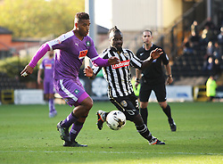 Reuben Reid of Plymouth Argyle (L) and Stanley Aborah of Notts County in action - Mandatory byline: Jack Phillips / JMP - 07966386802 - 11/10/2015 - FOOTBALL - Meadow Lane - Nottingham, Nottinghamshire - Notts County v Plymouth Argyle - Sky Bet Championship