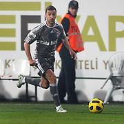 Besiktas's Simao SABROSA during their Turkish superleague soccer match Besiktas between Bucaspor at BJK Inonu Stadium in Istanbul Turkey on Friday, 21 January 2011. Photo by TURKPIX