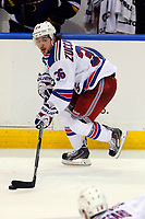 Ishockey<br /> NHL<br /> Foto: imago/Digitalsport<br /> NORWAY ONLY<br /> <br /> 9 October 2014: New York Rangers right wing Mats Zuccarello Aasen (36) controls the puck during the third period of a NHL hockey game against the St. Louis Blues at the Scottrade Center in St. Louis, Missouri. The Rangers defeated the Blues 3-2.