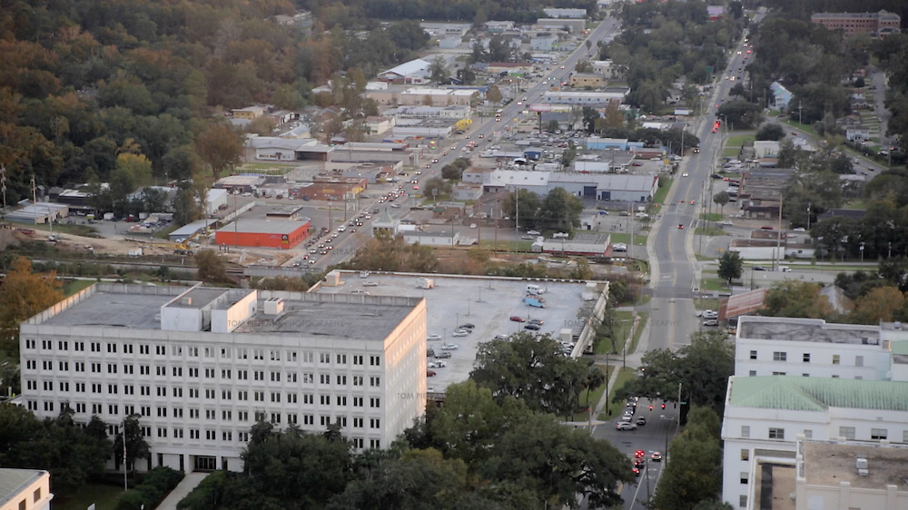 The view across Tallahassee from Florida's Capitol building. <br /> <br /> Photo: Tom Pietrasik<br /> Tallahassee, Florida<br /> USA<br /> November 2015
