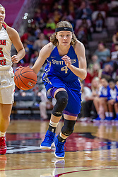 NORMAL, IL - December 20: Kerri McMahan during a college women's basketball game between the ISU Redbirds and the St. Louis Billikens on December 20 2018 at Redbird Arena in Normal, IL. (Photo by Alan Look)