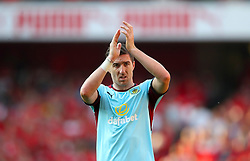 Burnley's Stephen Ward applauds the fans after the final whistle