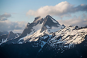 Mount Despair at sunset, North Cascades National Park, Washington.