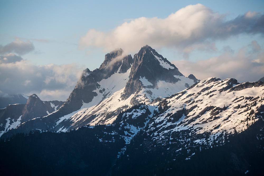 Mount Despair at sunset, North Cascades National Park, Washington.