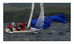 Yachting- The first days inshore racing  of the Bell Lawrie Scottish series 2002 at Tarbert Loch Fyne. Near perfect conditions saw over two hundred yachts compete. <br />Yonka 1720 (IRL1767)<br />Pics Marc Turner / PFM