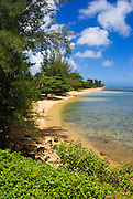 Anini Beach on the North Shore, Island of Kauai, Hawaii