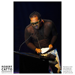 King Kapisi at the APRA Silver Scroll Awards 2004 at the Wellington Town Hall, Wellington, New Zealand.<br />