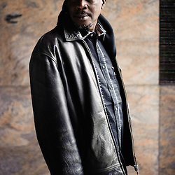 "William Mbaye's portrait during Brussels' Festival des Cinemas Africains (African Film Festival). He's the director of the movie ""Mere-Bi, la mere"". Commune d'Ixelles, Brussels. April 4, 2009. Photo : Antoine Doyen"