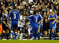 Photo: Ed Godden.<br /> Tottenham Hotspur v Chelsea. The Barclays Premiership. 05/11/2006. Spurs and Chelsea players clash leading to the sending off of Chelsea's John Terry.