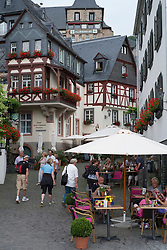Medieval buildings in historic Beilstein village on River Mosel in Germany