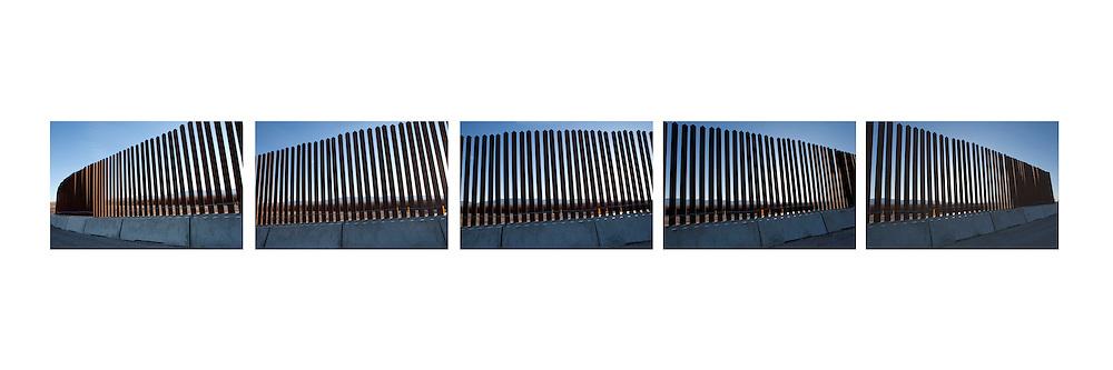 Border Fence along Rio Grande/Rio Bravo near Ft. Quitman, Texas. Border wall.