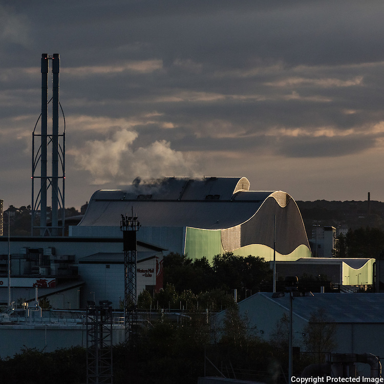 Energy Recovery Facility, which generates energy by incinerating non-recyclable waste, Splott, Cardiff, Gwent.