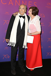 Macha Meril and music composer Michel Legrand attend the Opening Gala Dinner during the 70th annual Cannes Film Festival held at Martinez Hotel in Cannes, France on May 17, 2017 as part of the 70th Cannes Film Festival. Photo by Jerome Domine/ABACAPRESS.COM