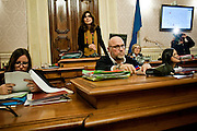 Filippo Nogarin durante un consiglio comunale su futuro della municipalizzata AAMPS<br /> 21 dicembre  2015 . Daniele Stefanini /  OneShot
