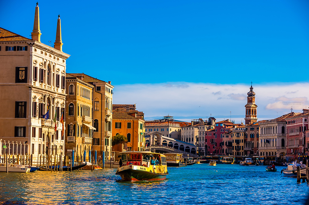 The Grand Canal, Venice, Italy.