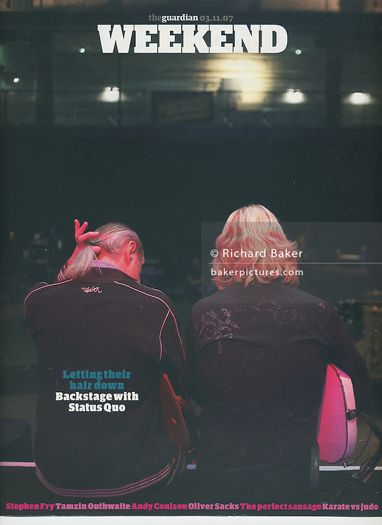 Status Quo cover, for Guardian Weekend Magazine, London