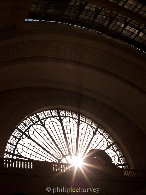 Circular window in Gare de L'Est, Paris, France