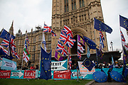 Anti Brexit pro European Union protest in Westminster on 28th October 2019 in London, England, United Kingdom. Brexit is the scheduled withdrawal of the United Kingdom from the European Union. Following a June 2016 referendum, in which 51.9% of participating voters voted to leave. On this day, the EU granted a further extension to Article 50, offering a 'flextension' until 31st January 2020.