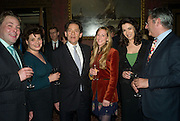 TOM LAWSON, EMILY LAWSON, NIGEL LAWSON, HORATIA LAWSON, NIGELLA LAWSON AND DOMINIC LAWSON, Book launch for AN APPEAL TO REASON, A Cool Look at Global Warming by Nigel Lawson. Hosted by NIGELLA LAWSON, DUCKWORTH PUBLISHERS and ED VICTOR LTD.<br />
