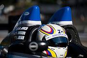 Rudy Junco, Ken Dobson and Elton Julian, PR1 Mathiasen Motorsports (PC) Chevrolet Oreca FLM09, Petit Le Mans. Oct 18-20, 2012. © Jamey Price