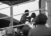 Ali vs Lewis Fight, Croke Park,Dublin.<br /> 1972.<br /> 19.07.1972.<br /> 07.19.1972.<br /> 19th July 1972.<br /> As part of his built up for a World Championship attempt against the current champion, 'Smokin' Joe Frazier,Muhammad Ali fought Al 'Blue' Lewis at Croke Park,Dublin,Ireland. Muhammad Ali won the fight with a TKO when the fight was stopped in the eleventh round.<br /> <br /> A straight left to the face rocks Ali and forces him back from Lewis.