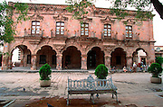 MEXICO, COLONIAL CITIES Dolores Hidalgo, Municipal Building on Zocalo, 1810 Revolutionary site