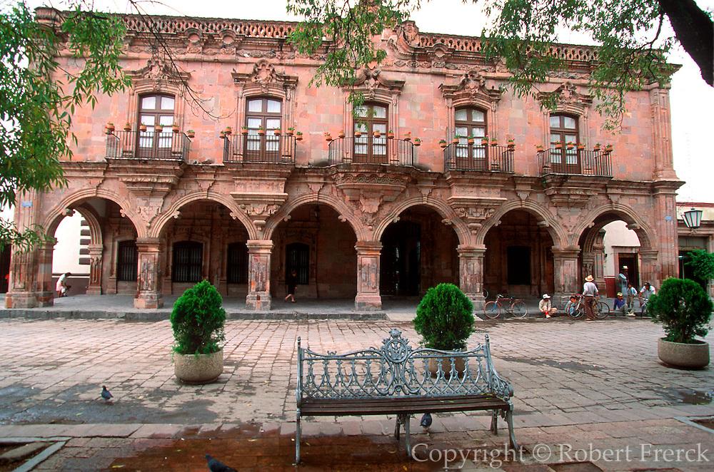 MEXICO, COLONIAL CITIES Dolores Hidalgo, Municipal Building on Zocalo, 1810 Revolutionary site