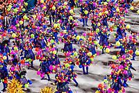 Carnaval parade of Estacio de Sa samba school in the Sambadrome, Rio de Janeiro, Brazil.