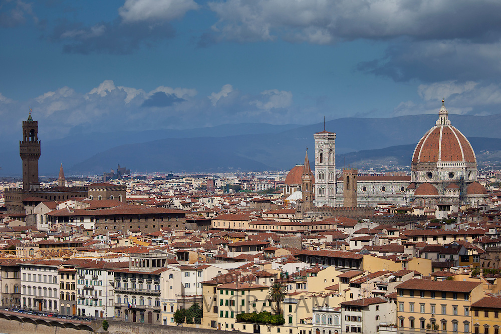 The City of Florence and Il Duomo di Florence Cathedral, Tuscany, Italy