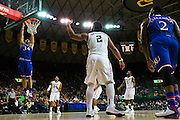 WACO, TX - JANUARY 7: Perry Ellis #34 of the Kansas Jayhawks dunks the ball against the Baylor Bears on January 7, 2015 at the Ferrell Center in Waco, Texas.  (Photo by Cooper Neill/Getty Images) *** Local Caption *** Perry Ellis