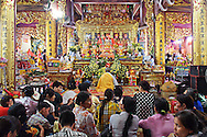 Ceremony in Thac Bo temple, a religious site built along the Black River, Hoa Binh Province, Vietnam, Southeast Asia, 2016