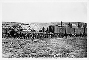 Construction train on the Union Pacific Railroad, 1868. Photograph