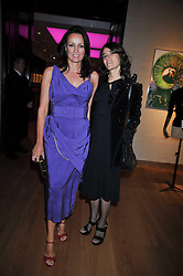 Left to right, TRISH SIMONON and BELLA FREUD at fundraising dinner and auction in aid of Liver Good Life a charity for people with Hepatitis held at Christies, King Street, London on 16th September 2009.