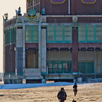 Asbury Park's Convention Hall on winters day in Februrary