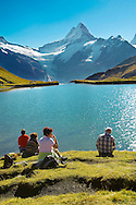 Grindelwald First Lake- Picnic- Grindelwald First- Swiss Alps, Switzerland .<br /> <br /> Visit our SWITZERLAND  & ALPS PHOTO COLLECTIONS for more  photos  to browse of  download or buy as prints https://funkystock.photoshelter.com/gallery-collection/Pictures-Images-of-Switzerland-Photos-of-Swiss-Alps-Landmark-Sites/C0000DPgRJMSrQ3U