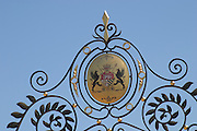 coat of arms wrought iron sign chateau d ampuis rhone france