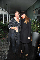 Left to right, VICTORIA AITKEN and  JULIET HARTFORD at the Total Concierge launch party held in the stylish Courtyard Garden at Sanderson, Berners Street, London on 26th May 2009.