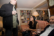 Faroukh Dhondy; NANDANA SEN;   Aatish Taseer  book launch party for his new book Stranger To History. Travel book asks what it means to be a Muslim in the 21st century. Hosted by Gillon Aitken. Kensington, London. 30 March 2009