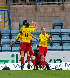 Partick Thistle's Lewis Mansell (18) cele scoring their third goal. Dundee 1 v 3 Partick Thistle, Scottish Championship game player 19/10/2019 at Dundee stadium Dens Park.