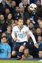 Tottenham's Roberto Soldado  - Photo mandatory by-line: Mitchell Gunn/JMP - Tel: Mobile: 07966 386802 02/03/2014 - SPORT - FOOTBALL - White Hart Lane - London - Tottenham Hotspur v Cardiff City - Premier League