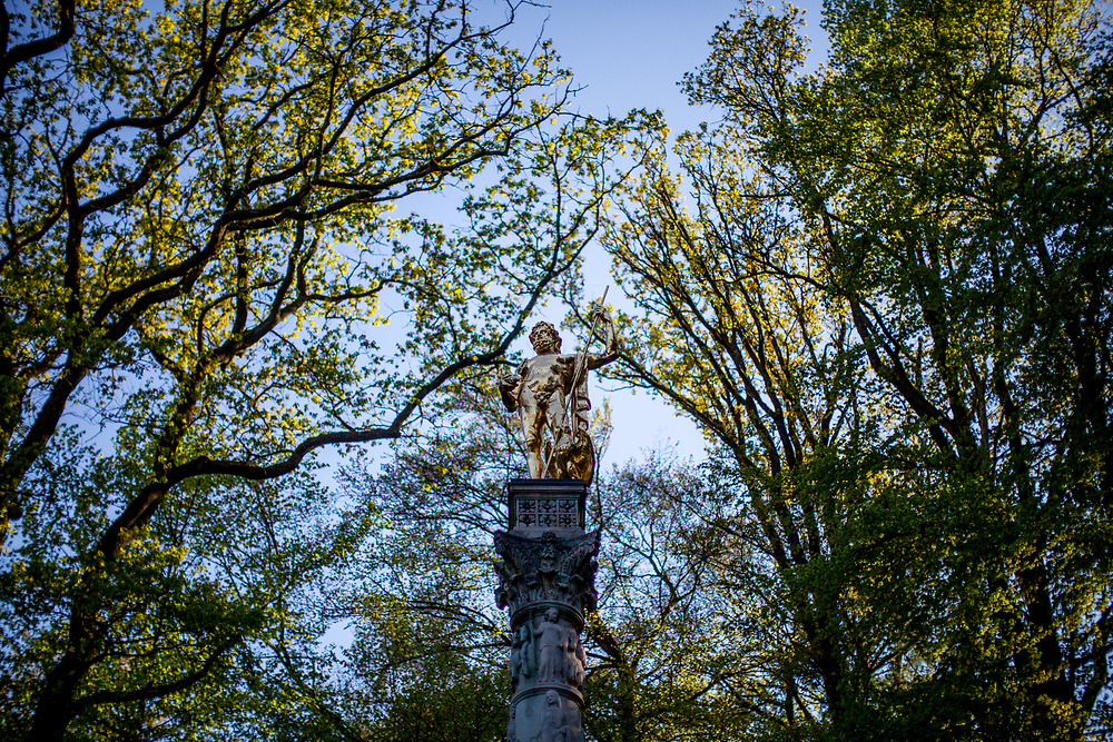 A reconstructed Column of Jupiter (Jupitersäule) at the Saalburg Roman Fort at the Limes Germanicus in Germany.