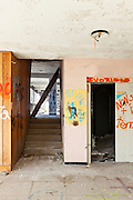 abandoned building, empty room with passage
