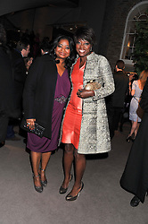 Left to right, actress OCTAVIA SPENCER and actress VIOLA DAVIS at the Asprey BAFTA Party held at Asprey, 167 New Bond Street, London on 11th February 2012.