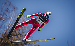 30.09.2018, Energie AG Skisprung Arena, Hinzenbach, AUT, FIS Ski Sprung, Sommer Grand Prix, Hinzenbach, im Bild Kamil Stoch (POL) // Kamil Stoch of Poland during FIS Ski Jumping Summer Grand Prix at the Energie AG Skisprung Arena, Hinzenbach, Austria on 2018/09/30. EXPA Pictures © 2018, PhotoCredit: EXPA/ Stefanie Oberhauser