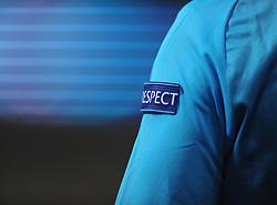 Respect - Photo mandatory by-line: Dougie Allward/JMP - Mobile: 07966 386802 - 22/10/2014 - SPORT - Football - Anderlecht - Constant Vanden Stockstadion - R.S.C. Anderlecht v Arsenal - UEFA Champions League - Group D