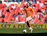Blackpool's James Husband looks on <br /> <br /> Photographer Andrew Kearns/CameraSport<br /> <br /> The EFL Sky Bet League One Play-Off Final - Blackpool v Lincoln City - Sunday 30th May 2021 - Wembley Stadium - London<br /> <br /> World Copyright © 2021 CameraSport. All rights reserved. 43 Linden Ave. Countesthorpe. Leicester. England. LE8 5PG - Tel: +44 (0) 116 277 4147 - admin@camerasport.com - www.camerasport.com