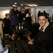 Alex George - Love Islandjoin Sleep Out fundraiser to help homeless young people at Greenwich Peninsula Quay on 15 November 2018, London, UK.
